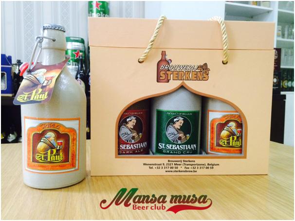 Hộp quà bia sứ - Chai 500ml – Hộp 3 chai