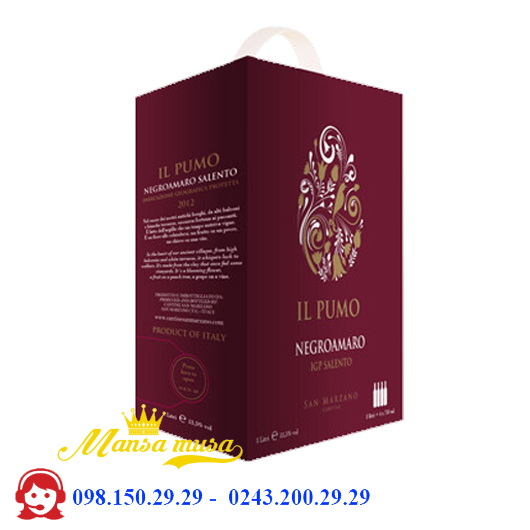 Rượu vang đỏ IL PUMO (Bịch)
