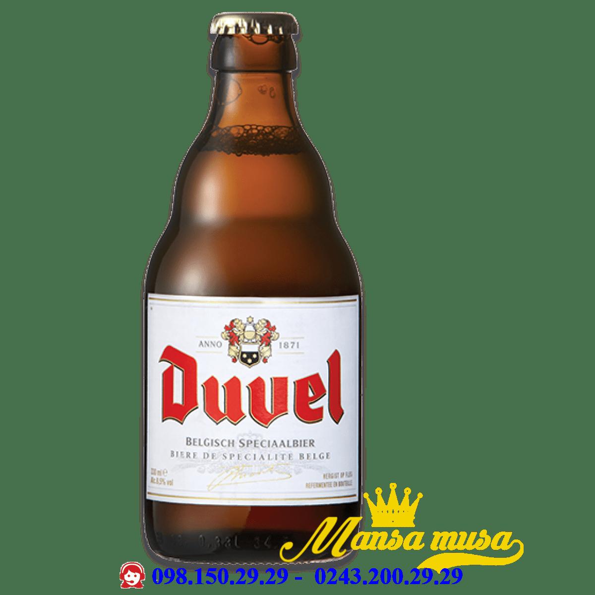 Bia Duvel 8.5% Bỉ chai 330 ml
