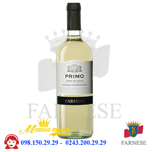 Vang trắng Primo Malvasia 11,5%
