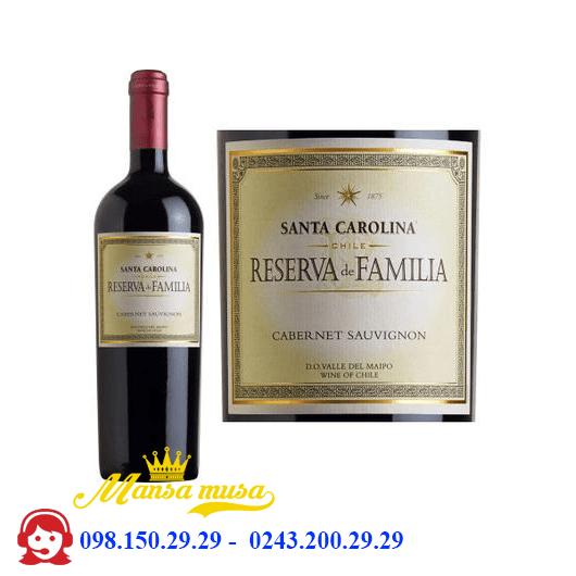 Vang Reserva De Familia Cabernet Sauvignon