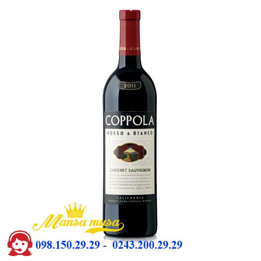 Vang Mỹ Coppola Rosso Bianco Shiraz