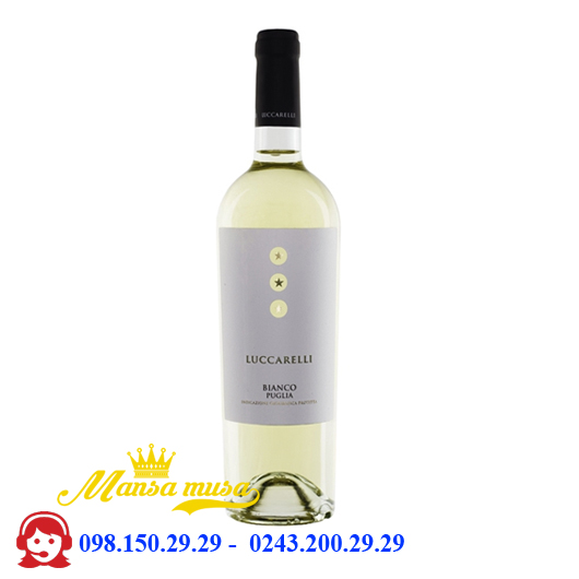 Vang trắng Luccarelli Bianco 12%