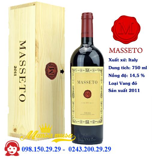 Rượu vang Ý Masseto 2011