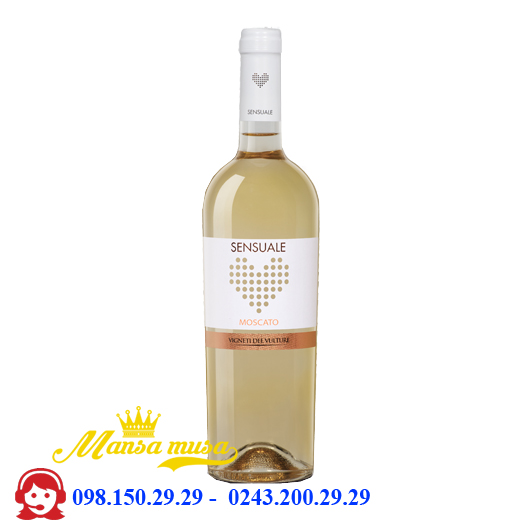 Vang trắng Sensuale Moscato 9,5%