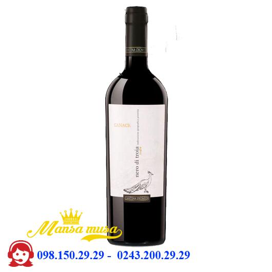 Vang đỏ Canace Nero di Troia 13,5%