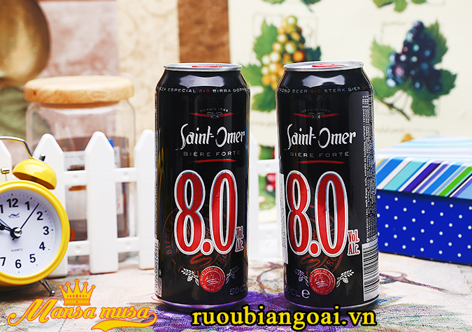 Bia Saint Omor 8% lon 500ml