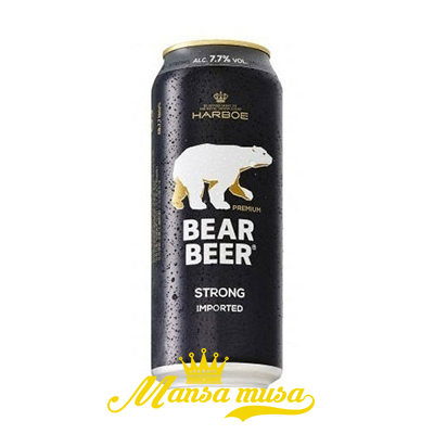 Bia Bear Strong (Bia Gấu) Đức 7,7% lon 500ml