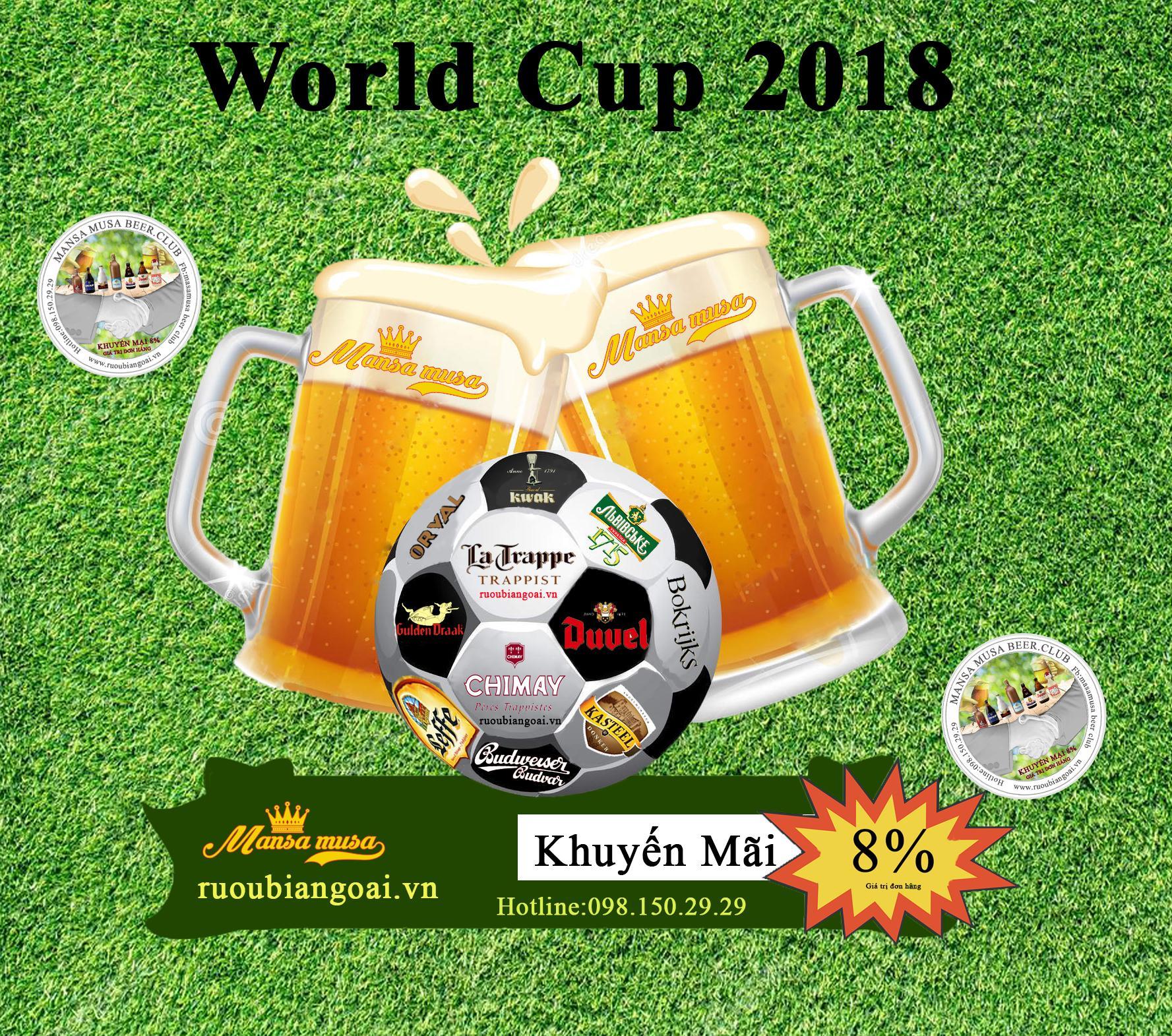 """World Cup 2018 uống bia gì cho """"chất""""?"""