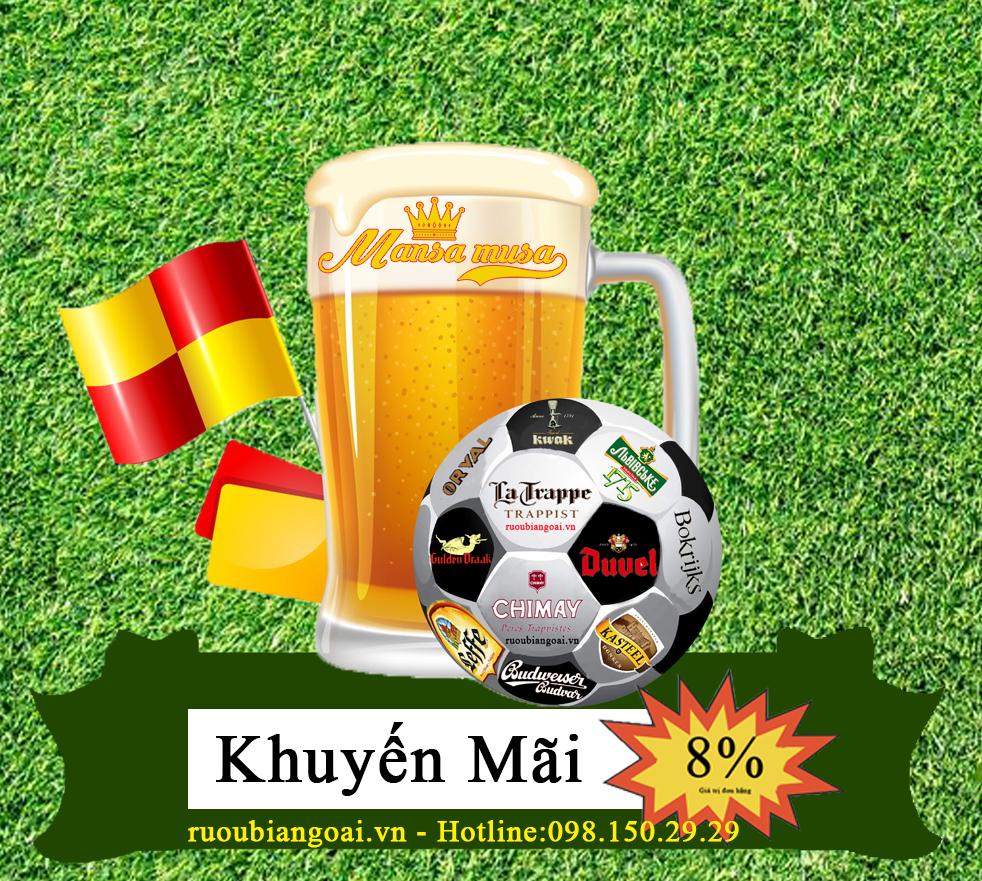khuyến mãi 8% khi mua bia trong mùa World Cup