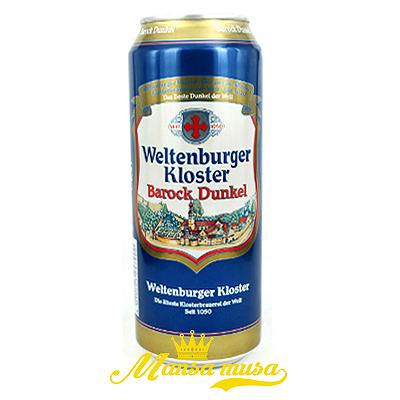 Bia Weltenburger Kloster Barock Dunkel Đức 4,7% lon 500ml