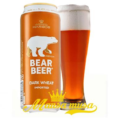 Bia Đức Bear Beer Dark Wheat (Bia Gấu) 5,4% lon 500ml