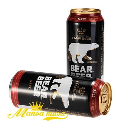 Bia Đức Bear Beer Dark (Bia Gấu) 5,3% lon 500ml