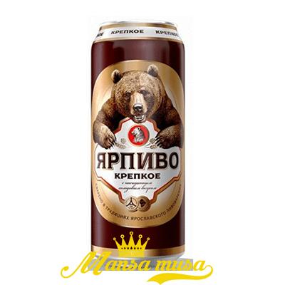 Bia Gấu Đen Mạnh Nga 7,2% lon 500ml