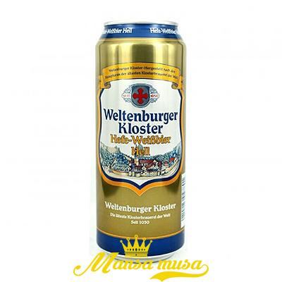 Bia Weltenburger Kloster Hefe Weibbier Hell  Đức 5,4% lon 500ml