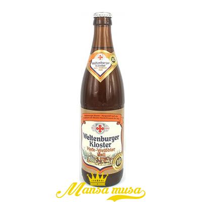 Bia Weltenburger Kloster Hefe Weibbier Hell Đức 5,4% chai 500ml