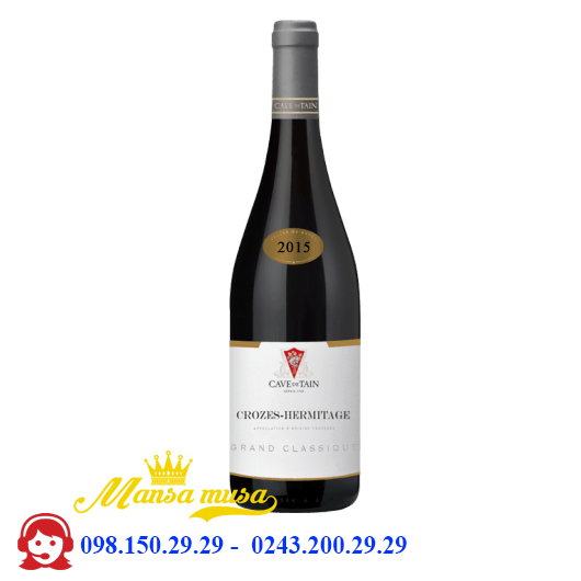 Vang Crozes-Hermitage Grand Classique red 2015 chai 3000ml