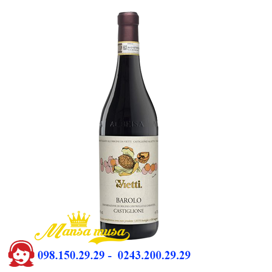 Rượu Vang Ý Vietti Barolo Castiglione 2016