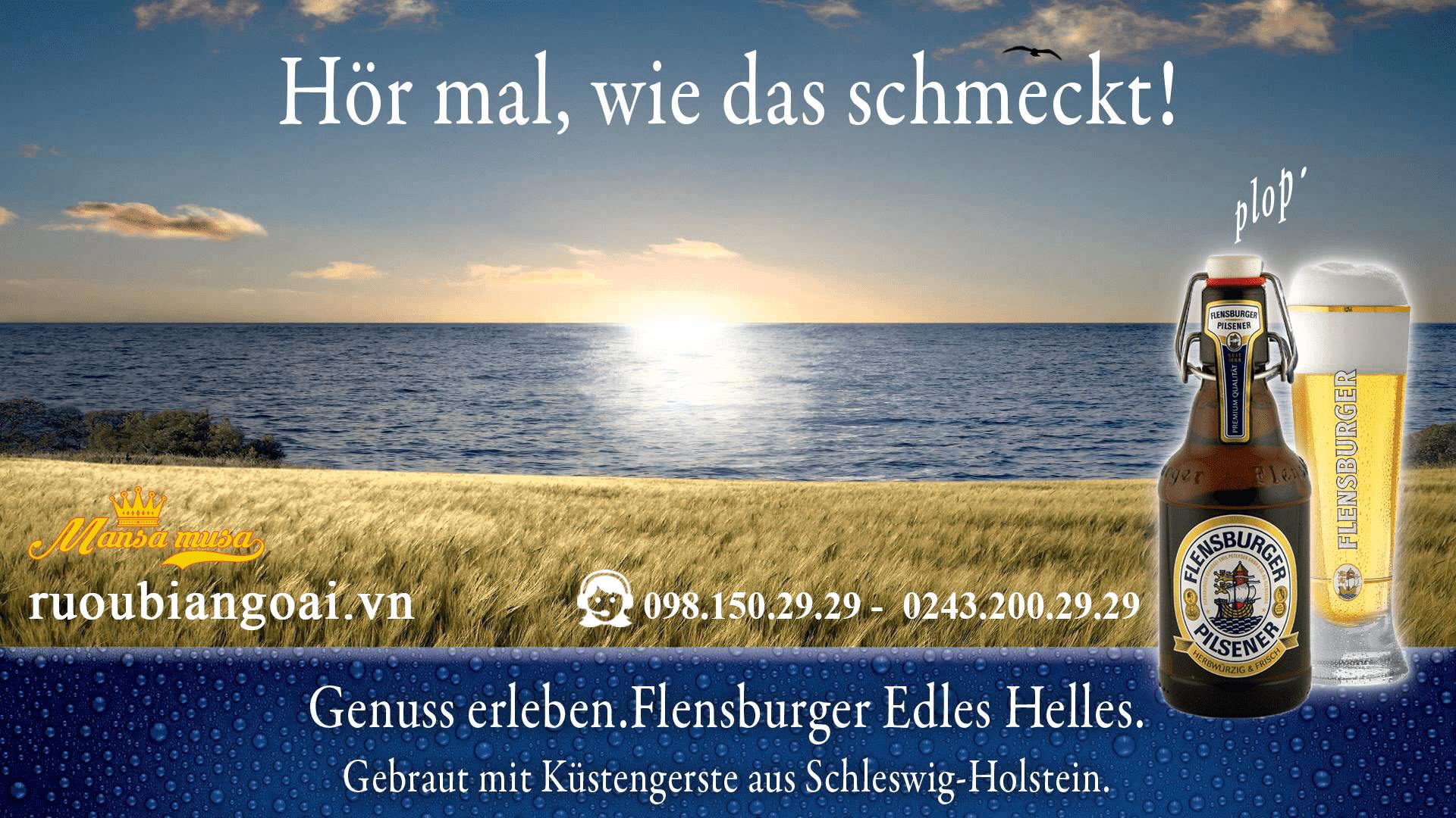 Bia FLENSBURGER PILSENER 4,8 % (chai 330 ml)