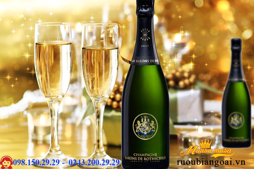 Rượu Champagne Barons de Rothschild Brut
