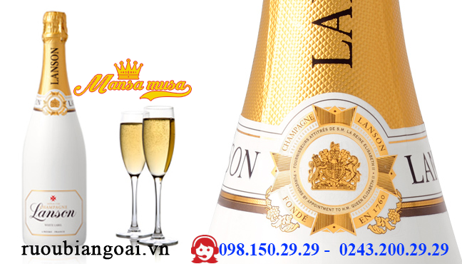 Rượu Champagne Lanson White Label