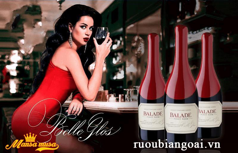 Vang Balade Pinot Noir Belle Glos 2015