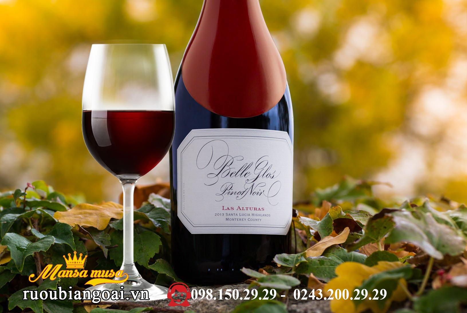 Vang Belle Glos Pinot Noir Las Alturas 2015
