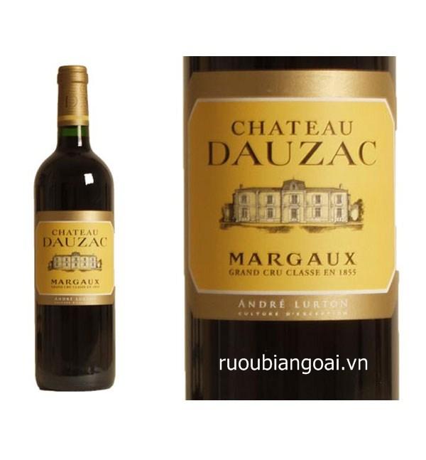 Rượu vang Pháp rượu vang Chaateau Dauzac Margaux