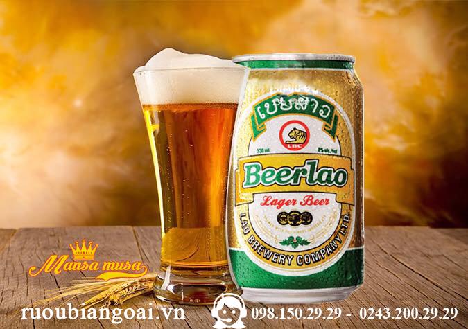 Bia Lào vàng lon 330ml