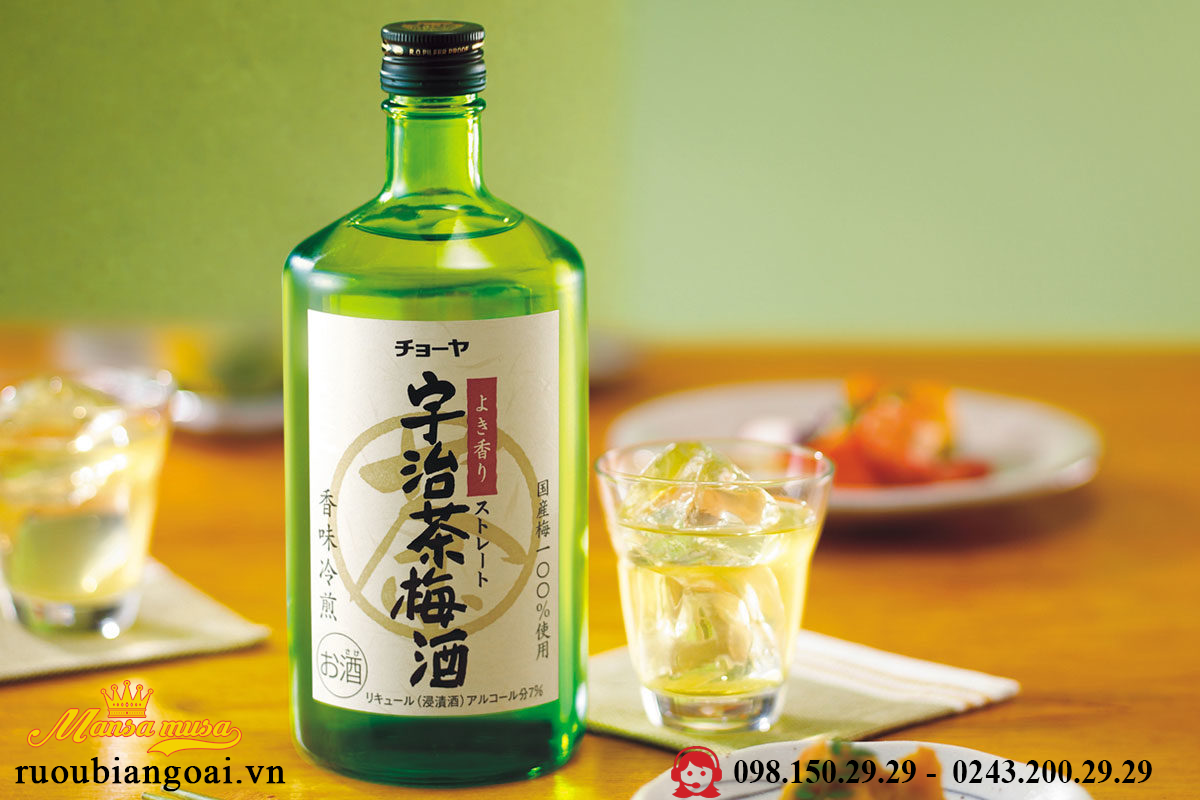 Ruou Choya Green Tea Umeshu 750 ml