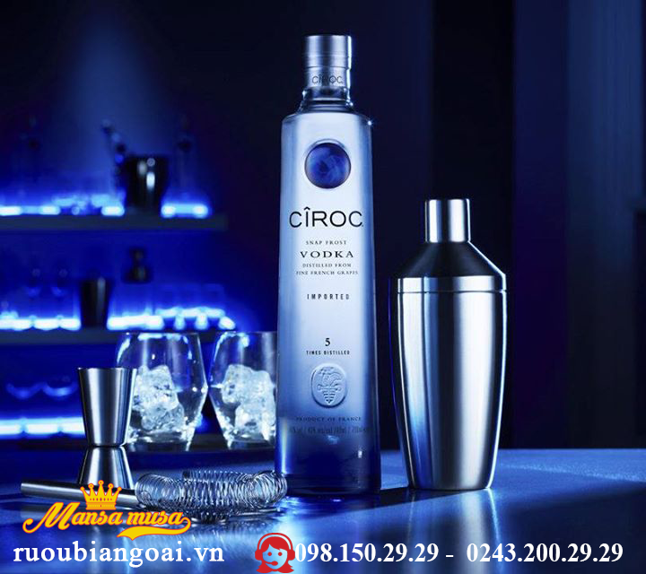 Ruou VodKa Ciroc 750 ml