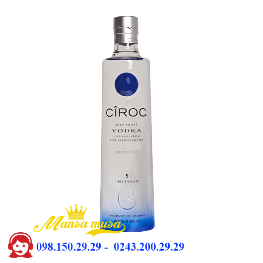 Rượu VodKa Ciroc 750 ml