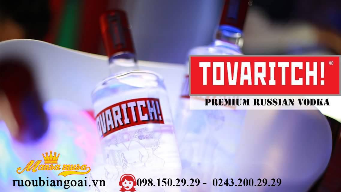 Ruou VodKa Tovaritch 1 lit (38 %)