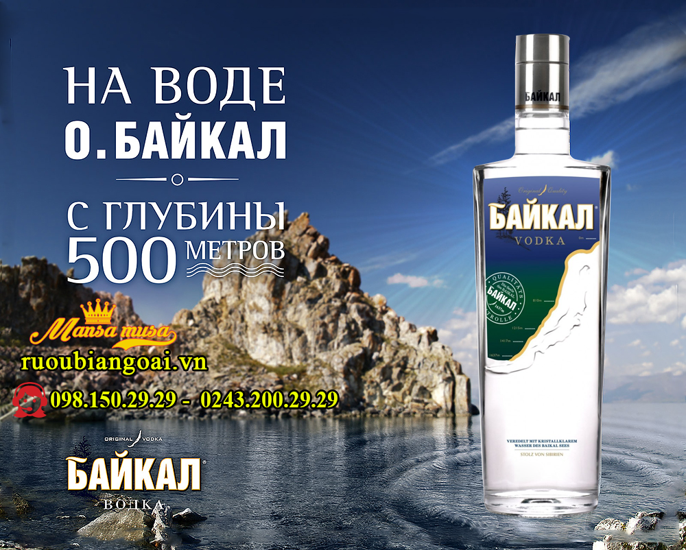 Ruou Vodka BaiKal