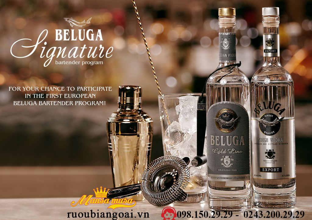 Ruou Vodka Beluga 700 ml