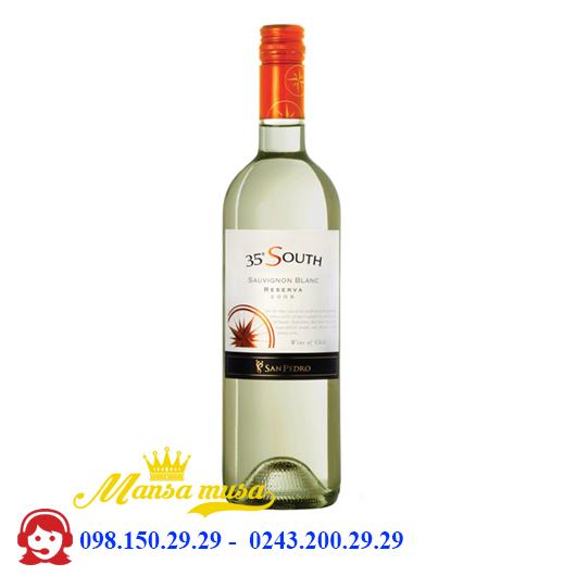 Rượu Vang 35 South Reserva Sauvignon Blanc