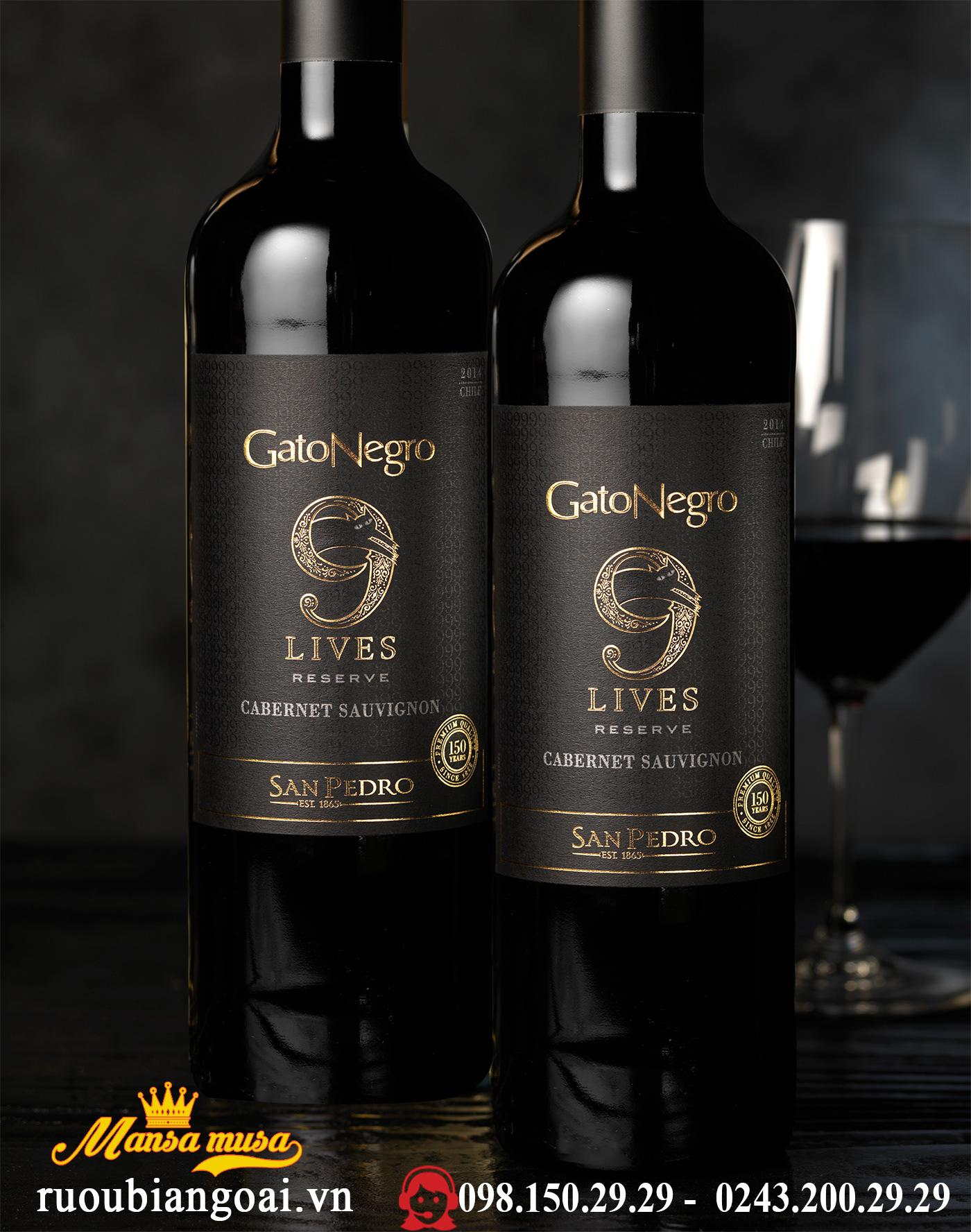 Vang Gato Negro 9 Lives Cabernet Sauvignon