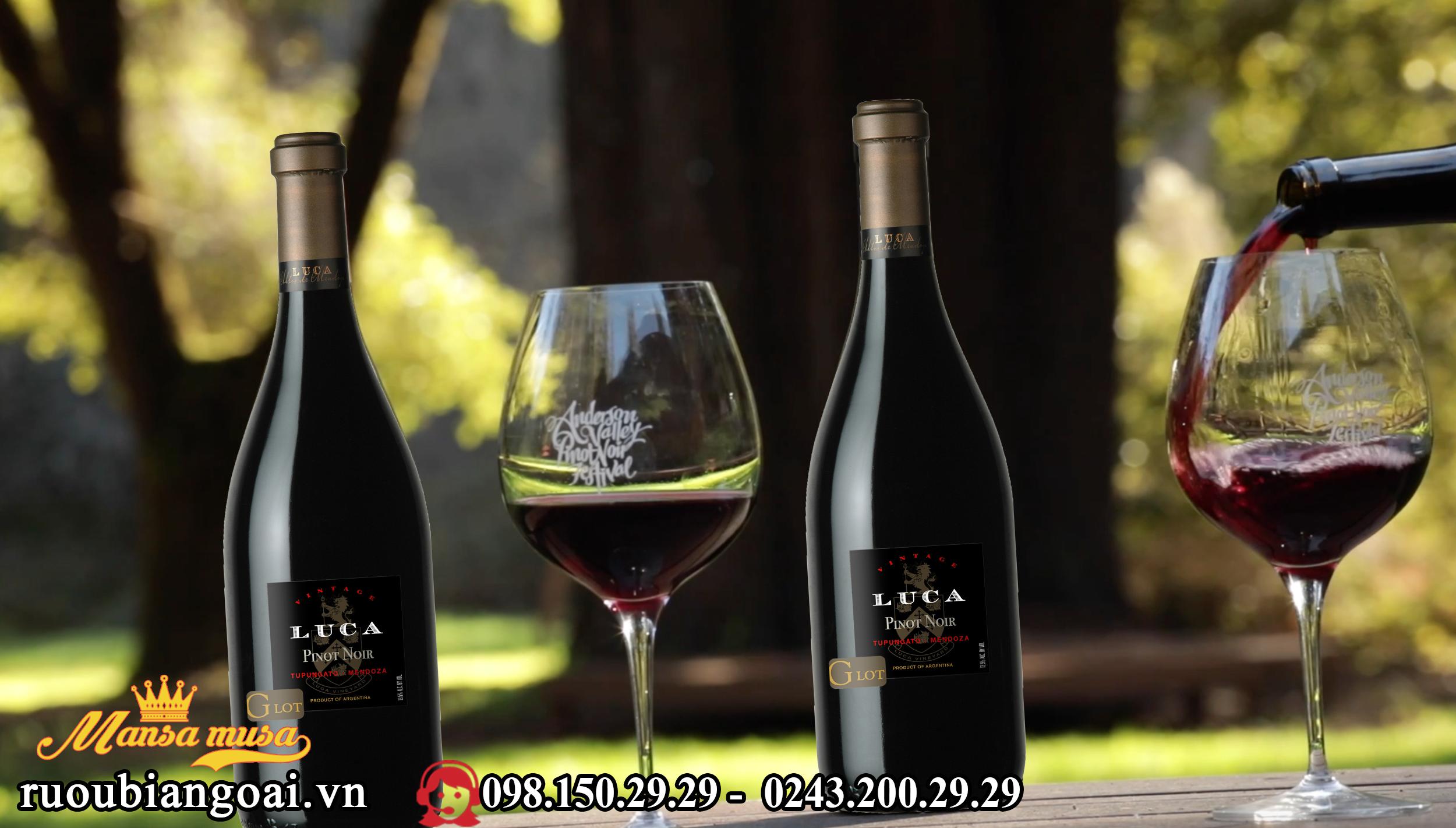 Vang Luca G Lot, Pinot Noir