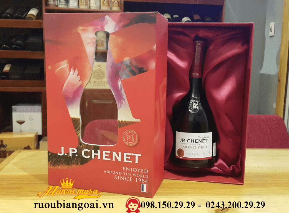 Hộp quà rượu vang JP Chenet Cabernet Syrah