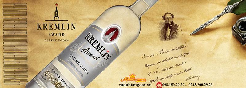 Rượu Vodka Nga Kremlin Award Classic
