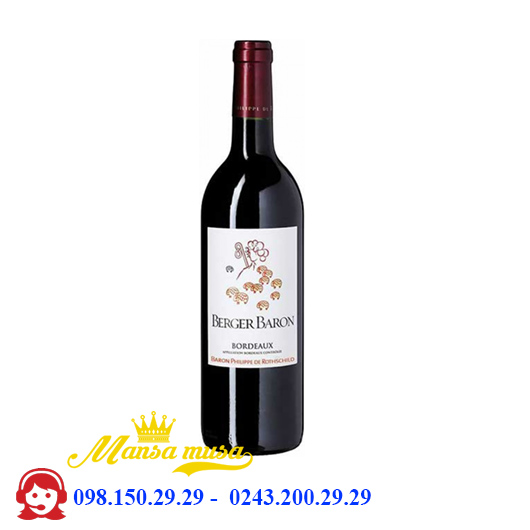 Vang Pháp Berger Baron Bordeaux Red