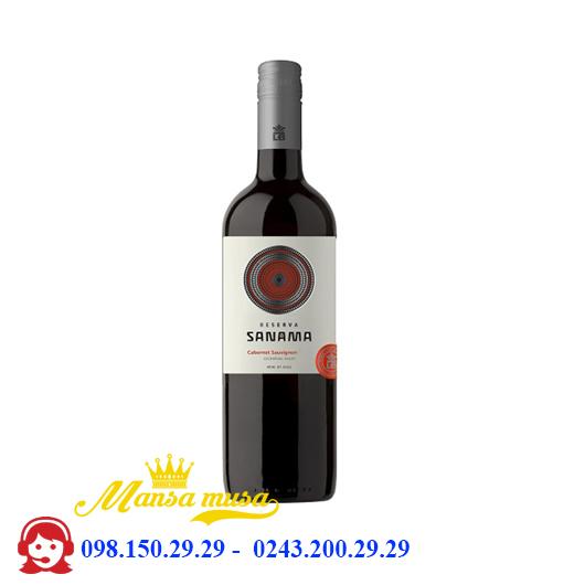 Rượu Vang Chile Reserva Sanama Cabernet Sauvignon