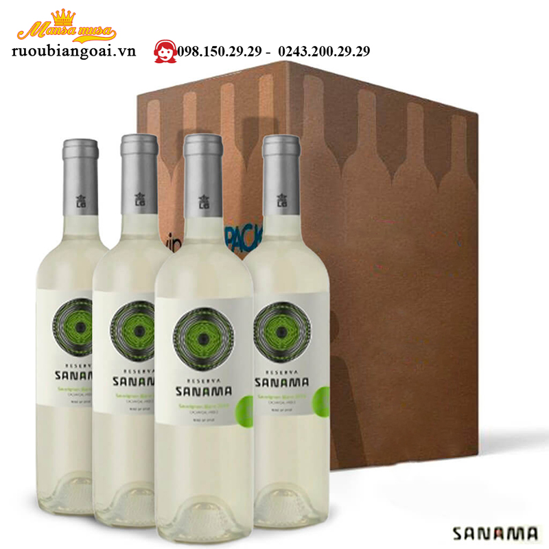 rượu vang trắng sanama reserva sauvignon blanc