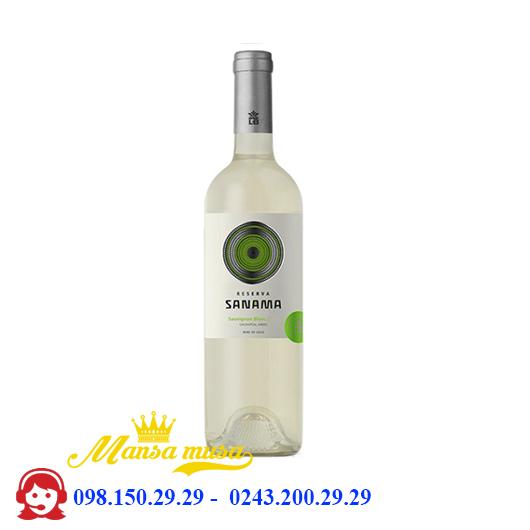Rượu vang Chile Sanama Reserva Sauvignon Blanc