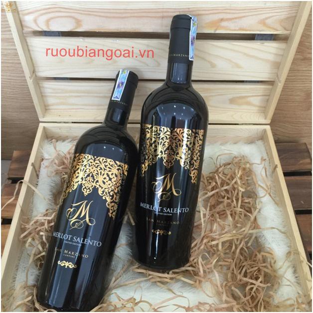 Rượu Vang Ý M Merlot salento