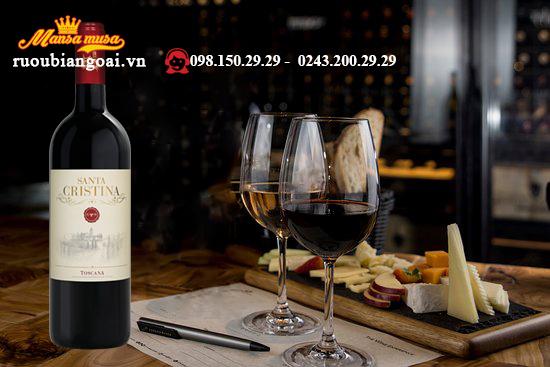 rượu vang antinori santa cristina toscana igt