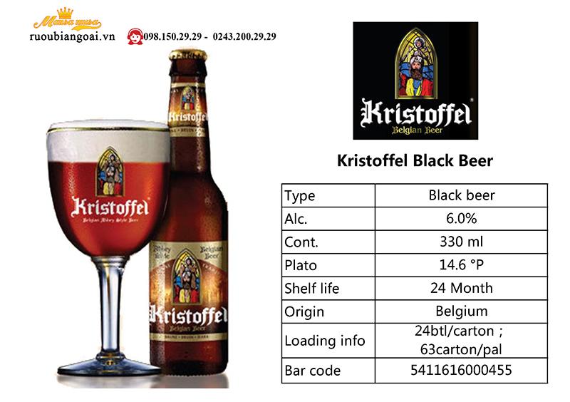 Bia Kristoffel Dark 6% - Chai 330ml