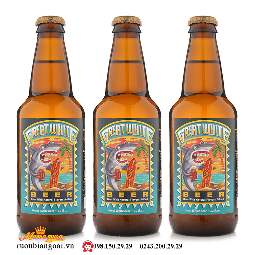 Bia Lost Coast Great White 4,8% - chai 355ml