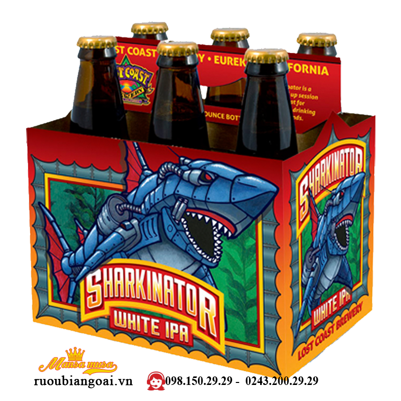 Bia Lost Coast Sharkinator White IPA 4,6% - Chai 355ml - Bia Mỹ