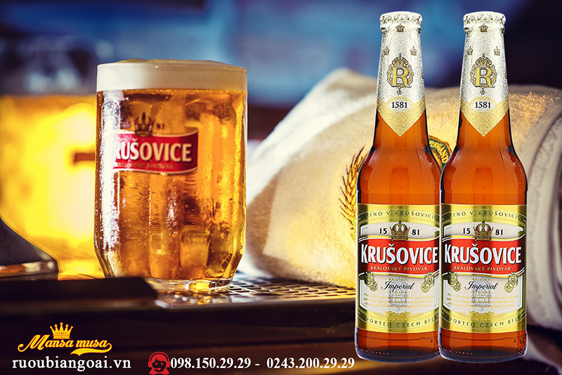 Bia Tiệp Krusovice Imperial 330ml